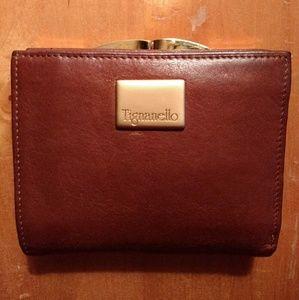 Tignanello Leather credit card, kiss lock wallet!